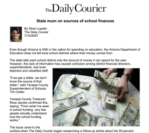 State Mum on Sources of School Finances