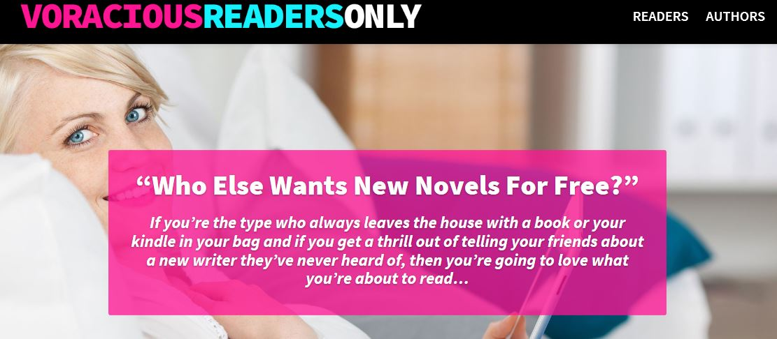 voracious readers only screen grab